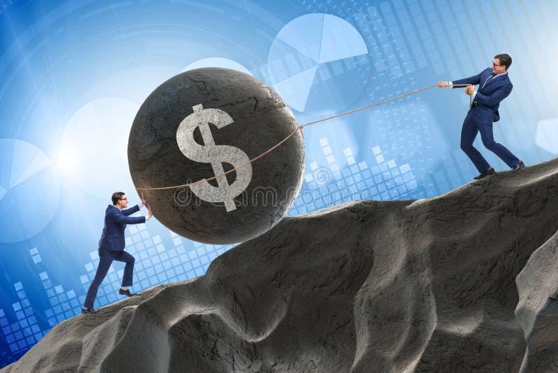 De handelaar die in Amerikaanse dollar handel drijven stock foto
