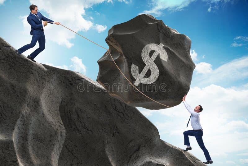 De handelaar die in Amerikaanse dollar handel drijven royalty-vrije stock foto's