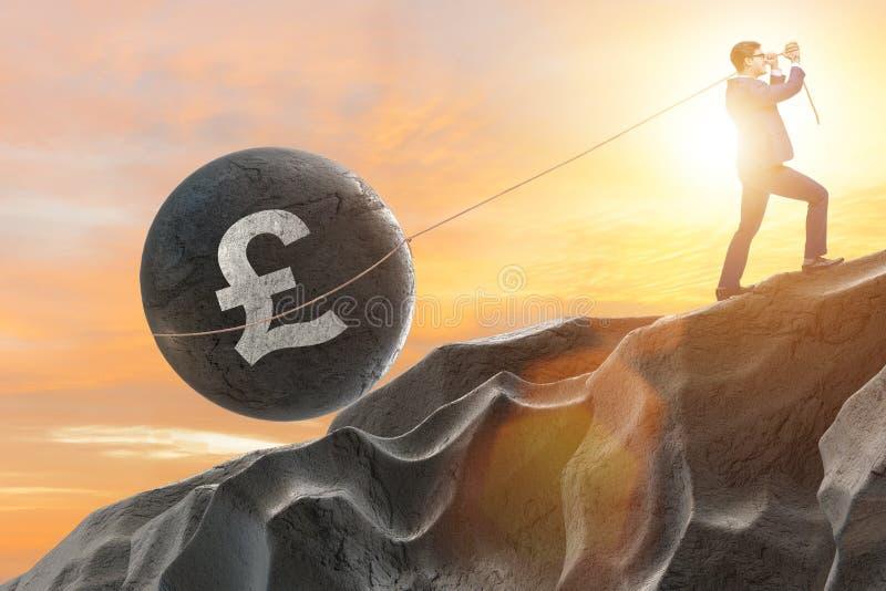 De handelaar die in Brits pond handel drijven royalty-vrije illustratie