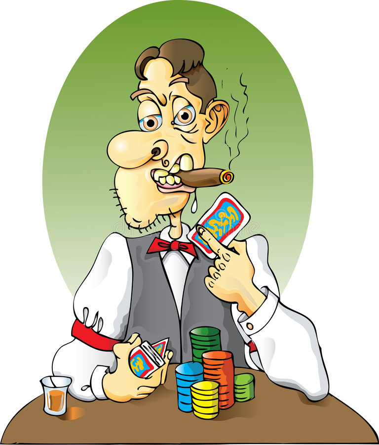 De Handelaar van de kaart stock illustratie
