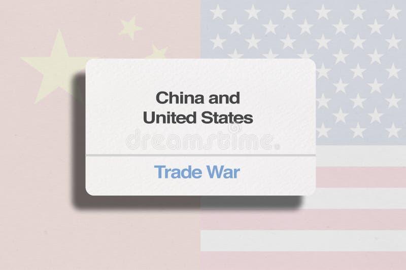 De Handelsoorlog van China en van Verenigde Staten stock foto's