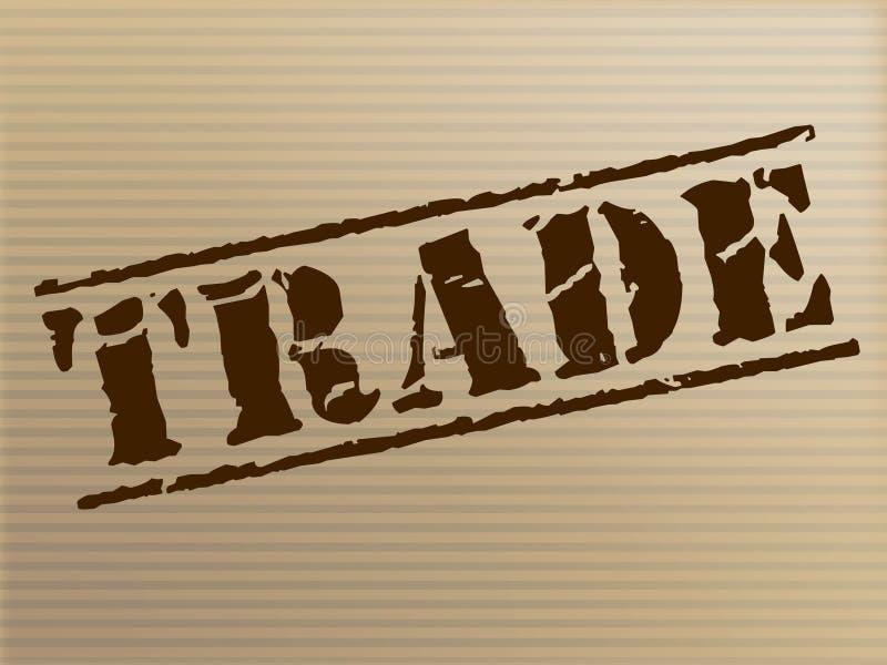 De handelszegel vertegenwoordigt Elektronische handel Handel en het Kopen vector illustratie