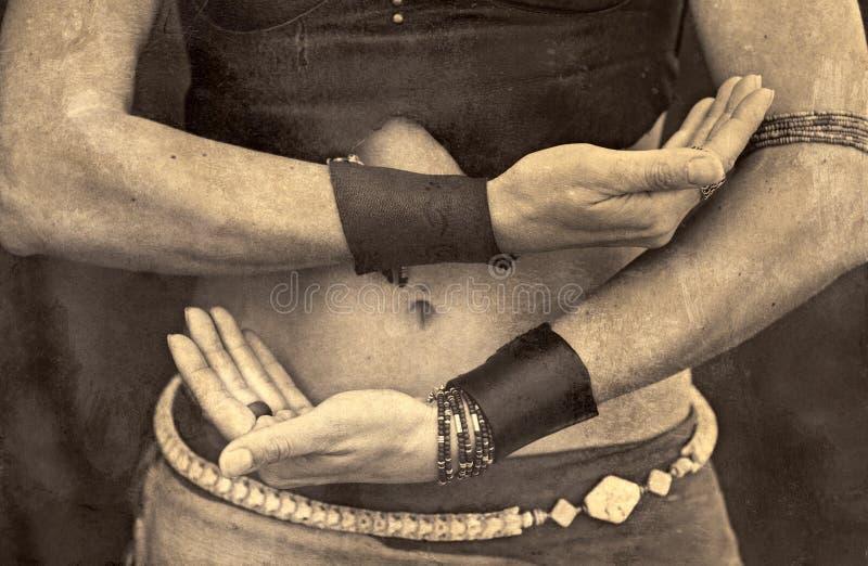 De Handen van Shamanic royalty-vrije stock foto
