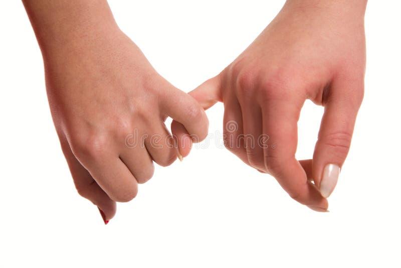 De handen sensuele aanraking van vrouwen royalty-vrije stock foto