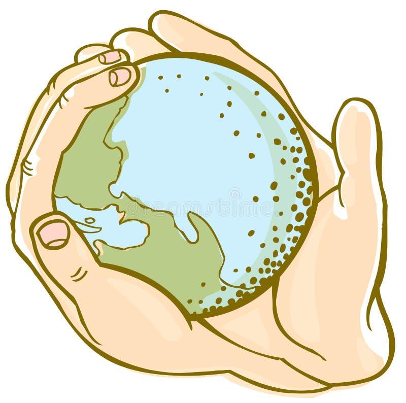 De handen van de aarde vector illustratie
