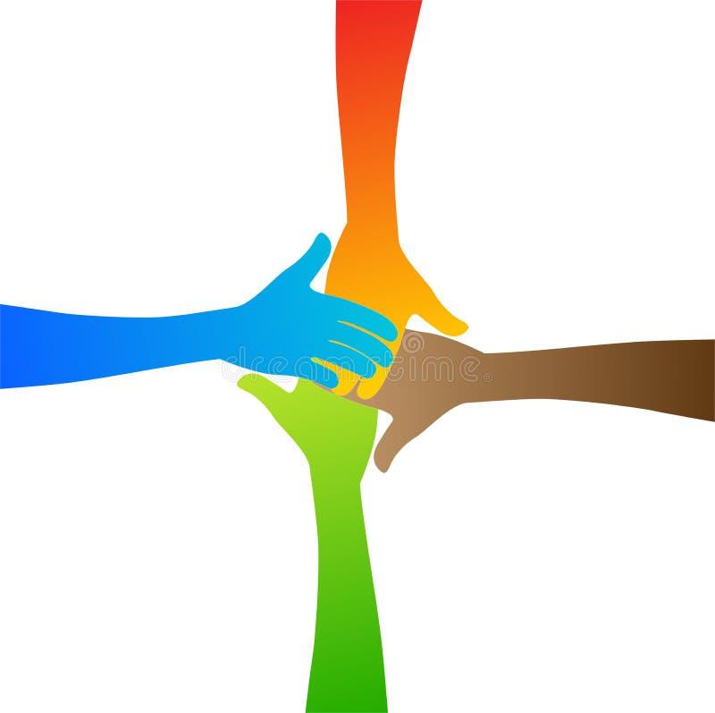 De handen van de diversiteit royalty-vrije illustratie