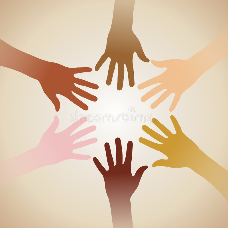 De handen van de diversiteit stock illustratie