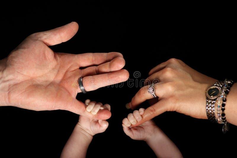 De handen van de familie royalty-vrije stock afbeelding