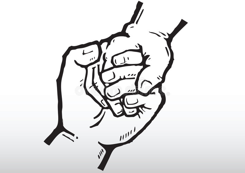 De handen van de holding royalty-vrije illustratie