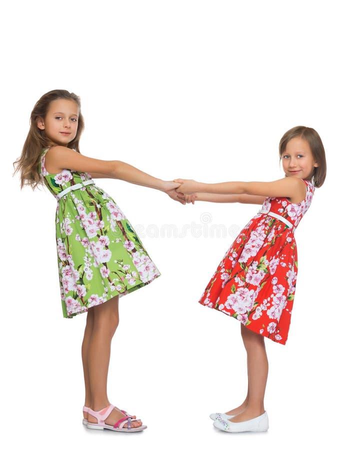 De Handen van de Holding van meisjes royalty-vrije stock afbeeldingen