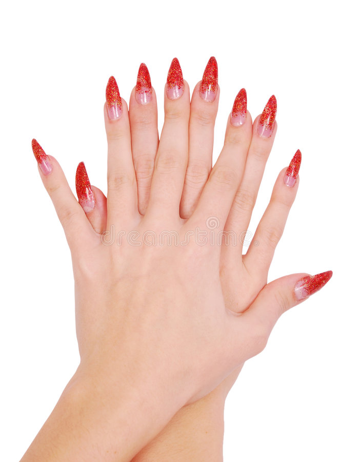 De handen van de manicure royalty-vrije stock foto's