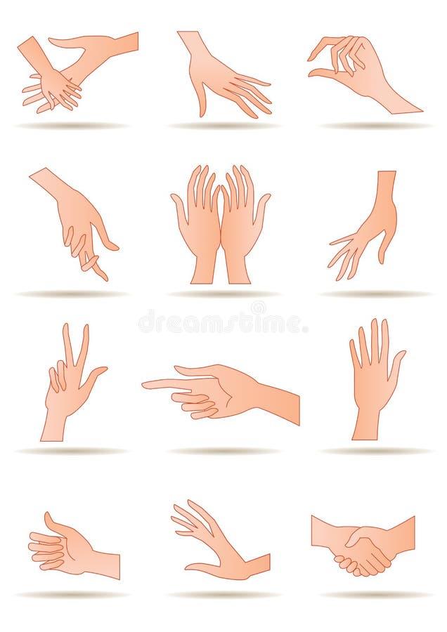 De handen van de mens vector illustratie