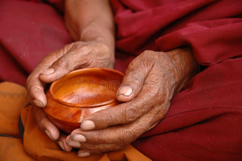 De Handen van de monnik royalty-vrije stock foto's