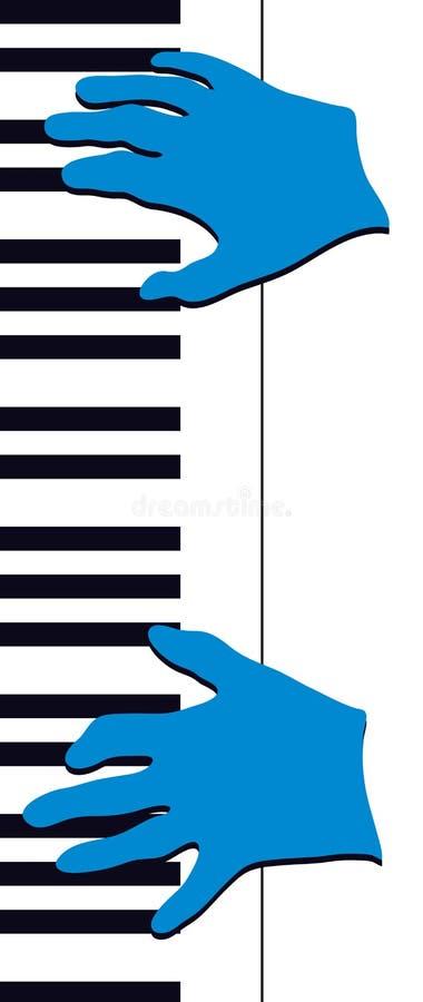De Handen van de Piano van de jazz vector illustratie