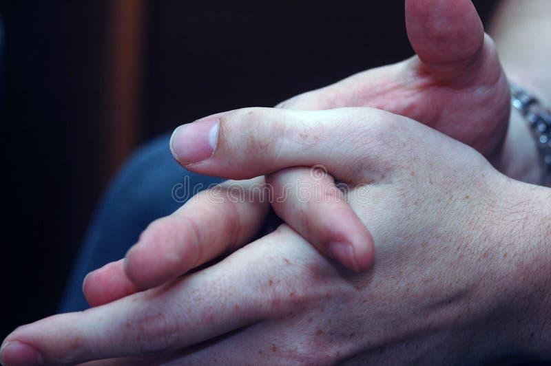 De handen van de zakenman stock foto