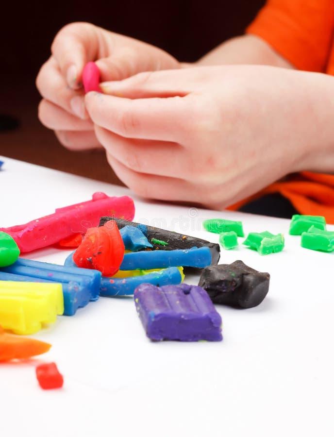 De handen van het kind stock foto