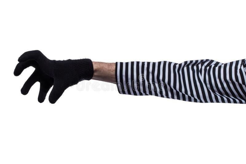 De handen van misdadigers. royalty-vrije stock afbeelding
