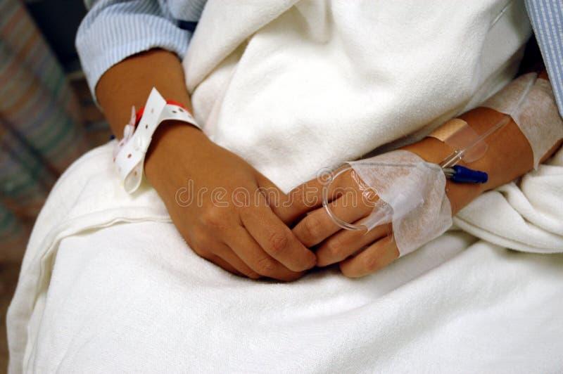 De Handen van patiënten royalty-vrije stock afbeeldingen