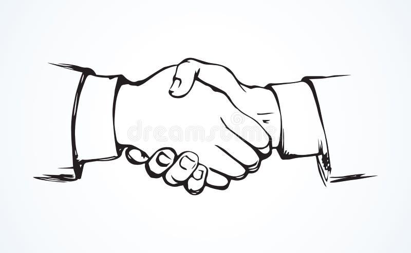 De handen van de schok Vector tekening stock illustratie