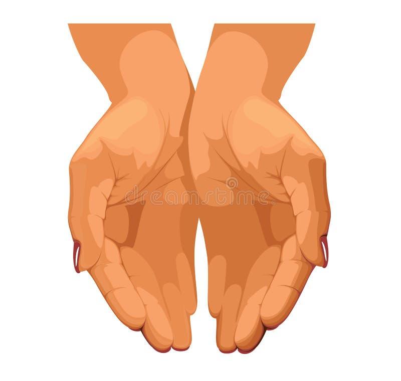 De handen van vrouwen royalty-vrije illustratie