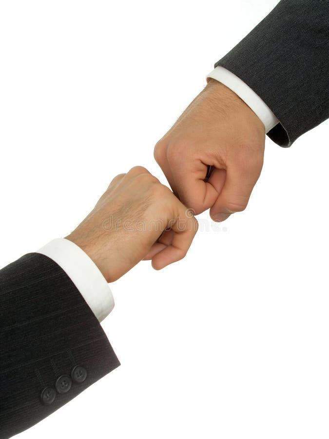 De handen van zakenlieden het vechten royalty-vrije stock foto's