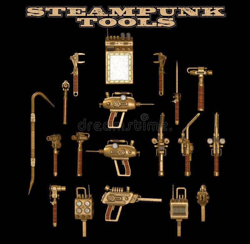 De handhulpmiddelen van Steampunk royalty-vrije stock foto