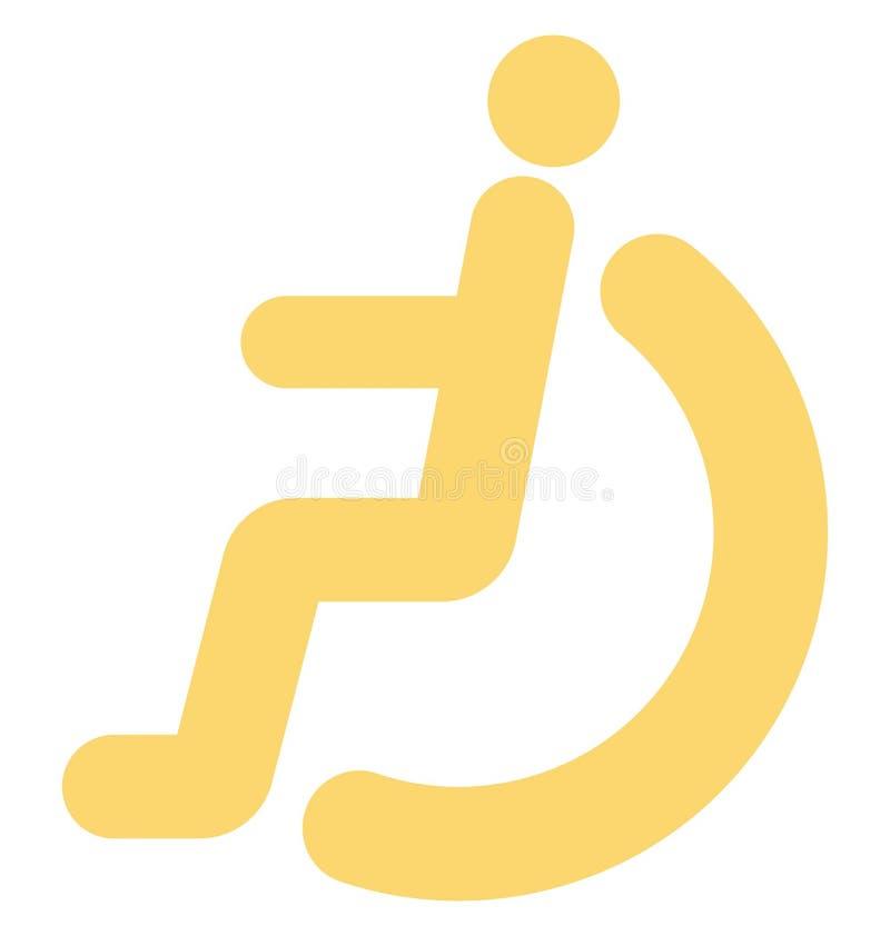de handicap, onbekwaamheid, isoleerde Vectorpictogram dat gemakkelijk kan worden gewijzigd of uitgeven stock illustratie