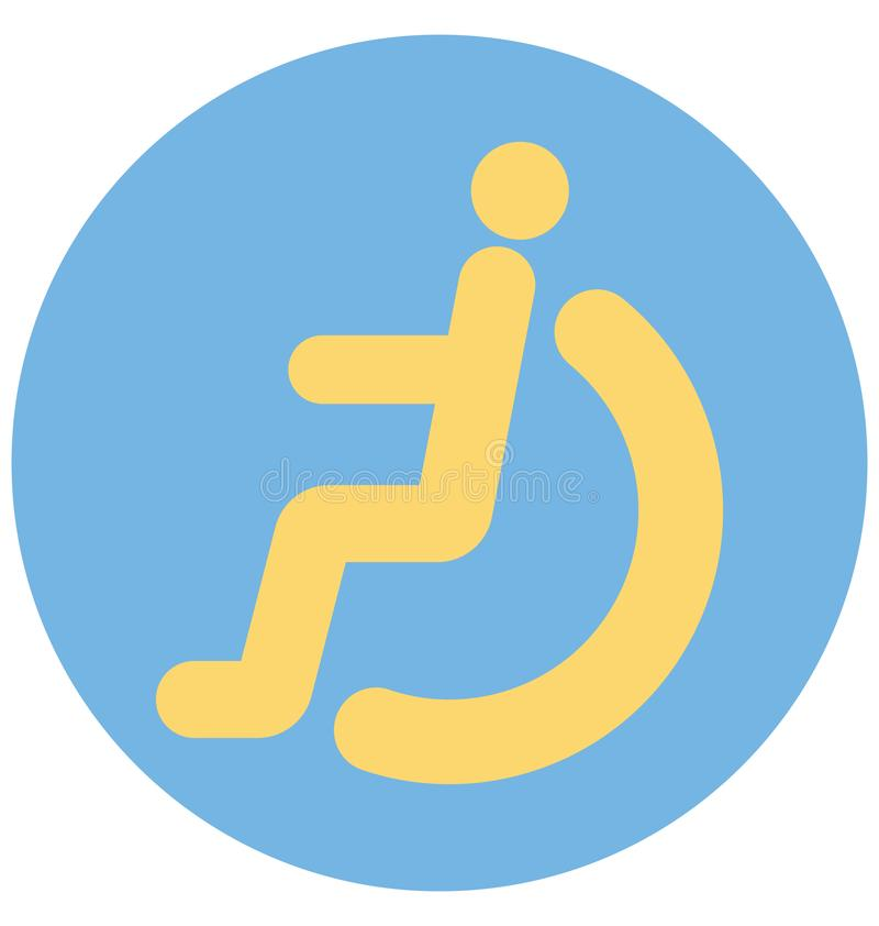 de handicap, onbekwaamheid, isoleerde Vectorpictogram dat gemakkelijk kan worden gewijzigd of uitgeven royalty-vrije illustratie