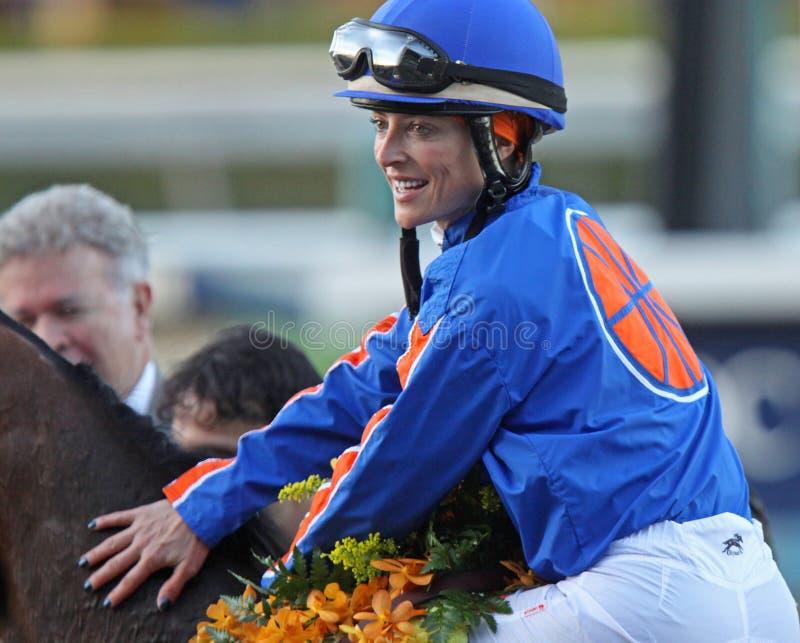 De Handicap van Chantal Sutherland Wins Santa Anita stock fotografie