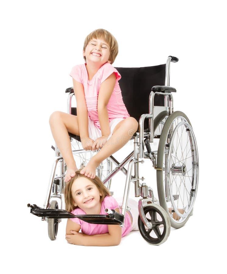 De handicapdienst in een grappig beeld stock afbeelding