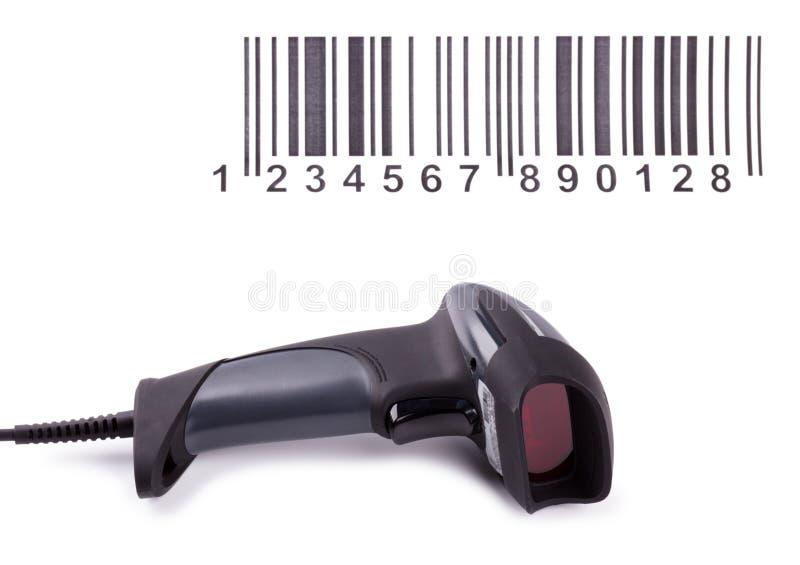 De handscanner van streepjescodes stock afbeeldingen