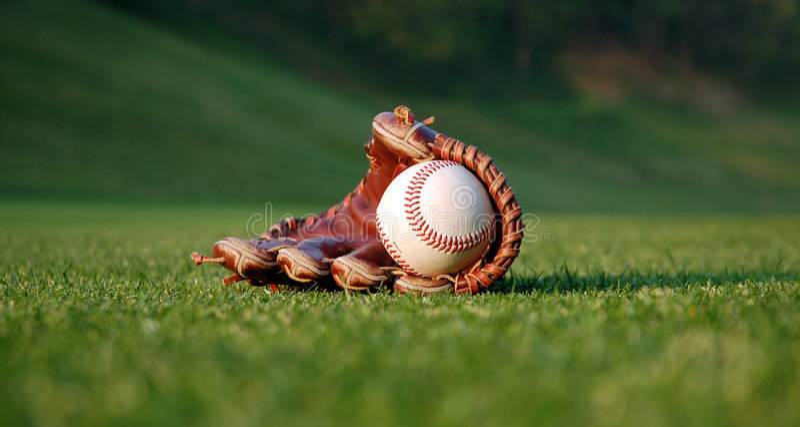 De handschoen van het honkbal royalty-vrije stock foto