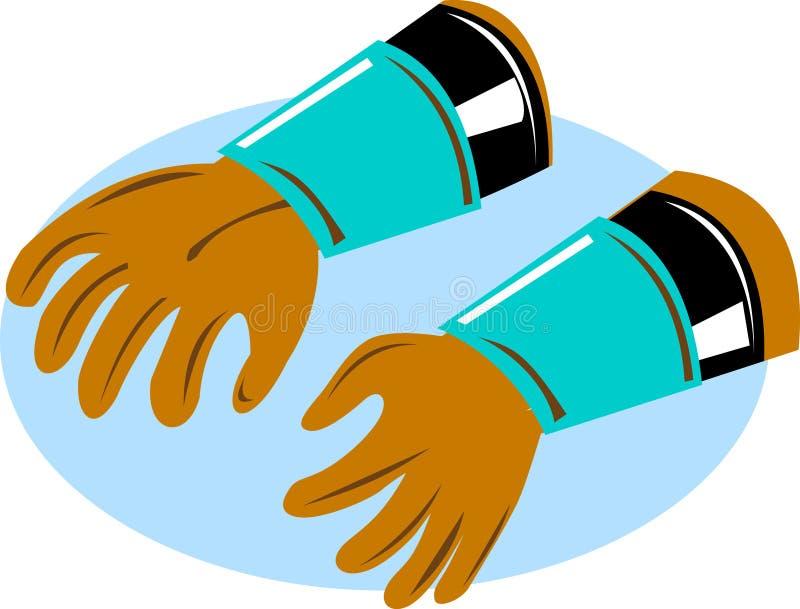 De handschoenen van de lijnwachter van de macht vector illustratie