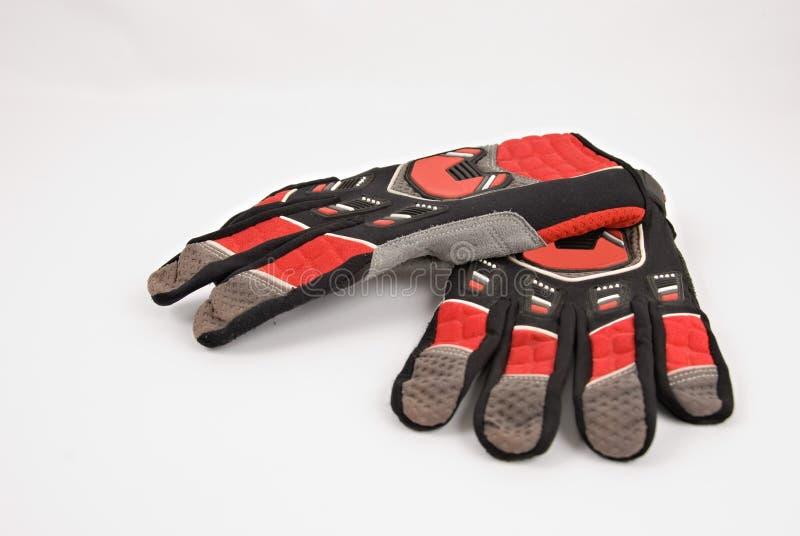 De Handschoenen van de motocross royalty-vrije stock afbeeldingen