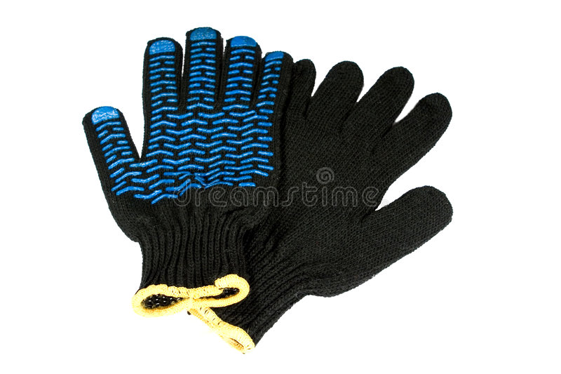 De handschoenen van de veiligheid stock afbeeldingen