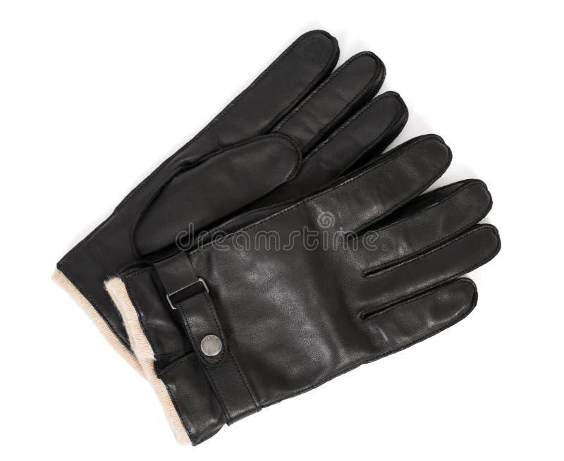 De handschoenen van het leer stock foto