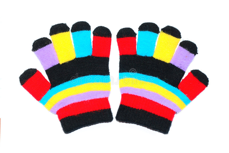 De handschoenen van kinderen royalty-vrije stock foto