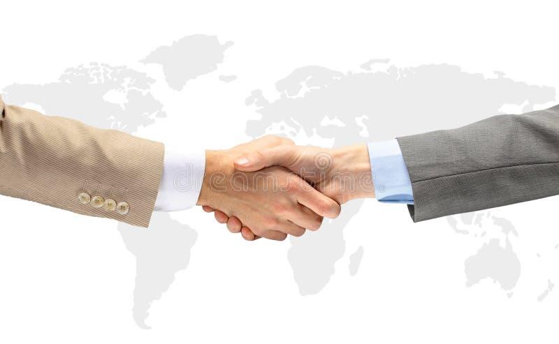 De handschok van de overeenkomst stock foto