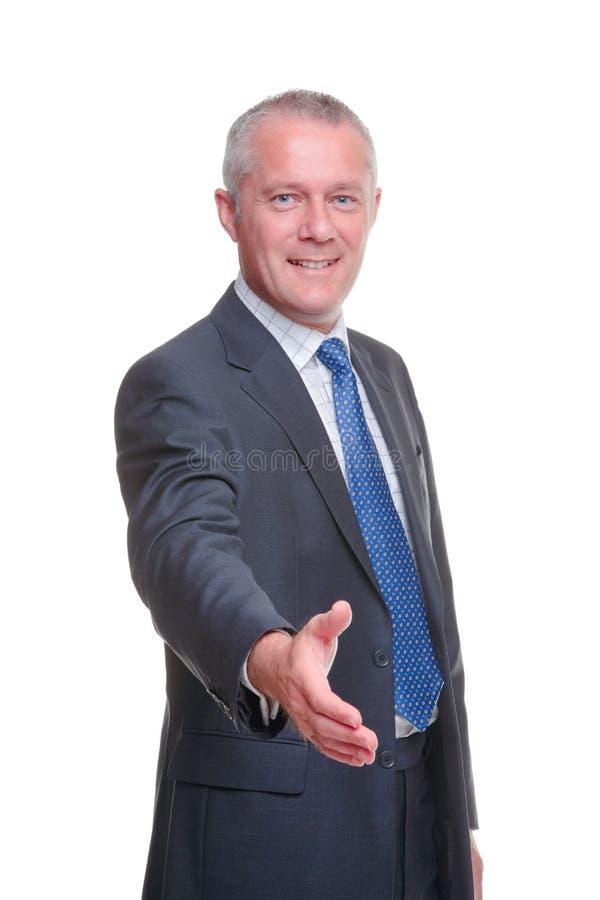 De handschok van de zakenman stock afbeeldingen