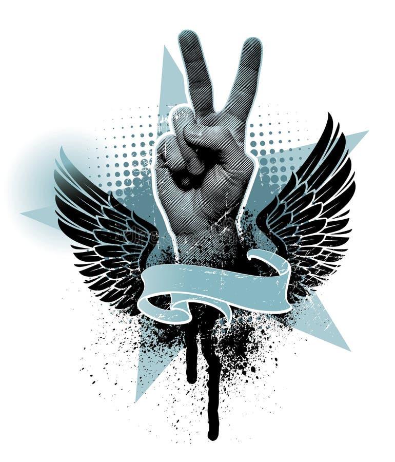 De handteken van de vrede vector illustratie