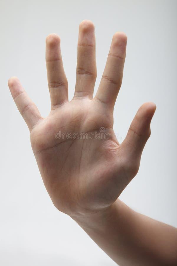De handteken van het einde royalty-vrije stock afbeelding