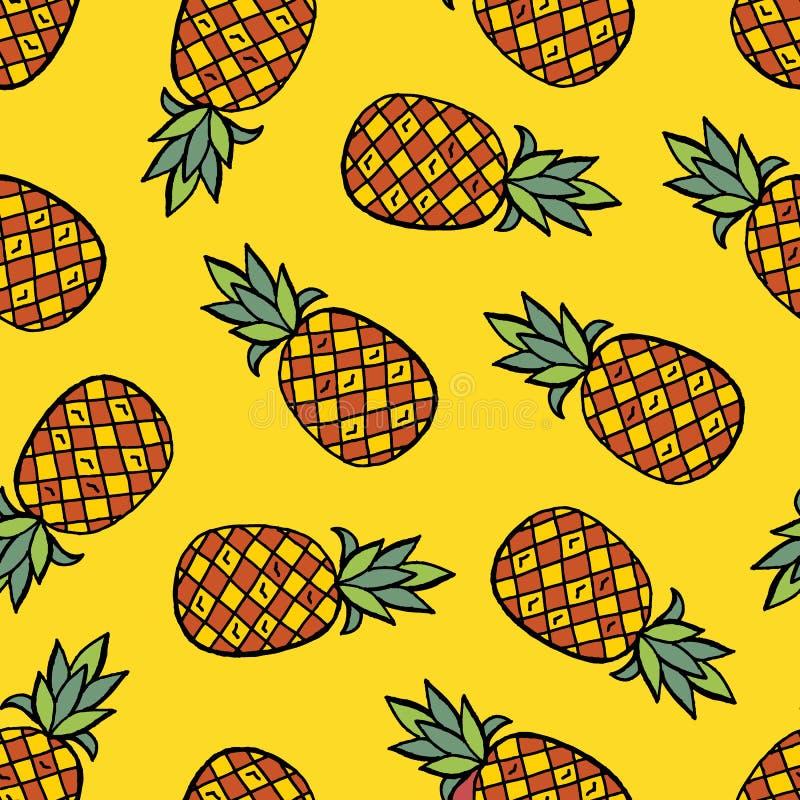 De handtekening van het ananaspatroon vector illustratie