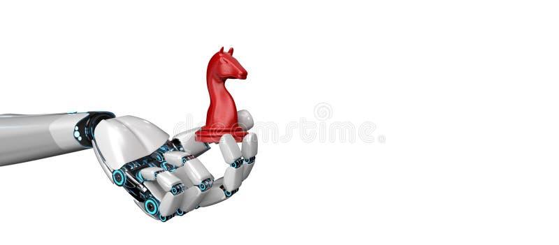 De Handtrojaans paard van de Humanoidrobot vector illustratie