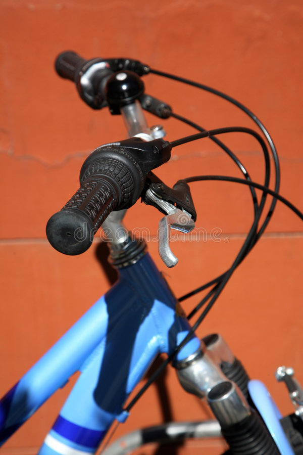 De handvatten van de fiets royalty-vrije stock afbeeldingen