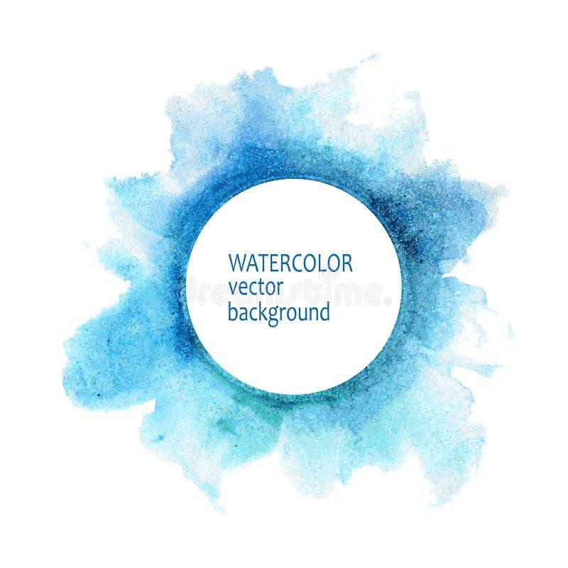 De handverf van de waterverfcirkel op witte achtergrond vector illustratie