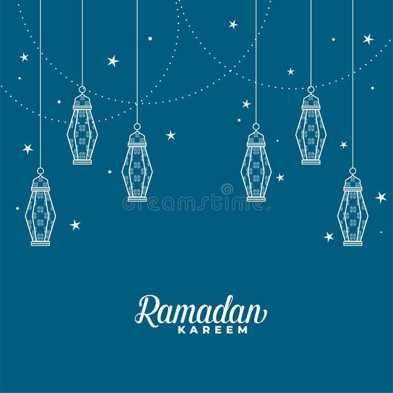De hangende Islamitische achtergrond van lantaarn decoratieve ramadan kareem stock illustratie