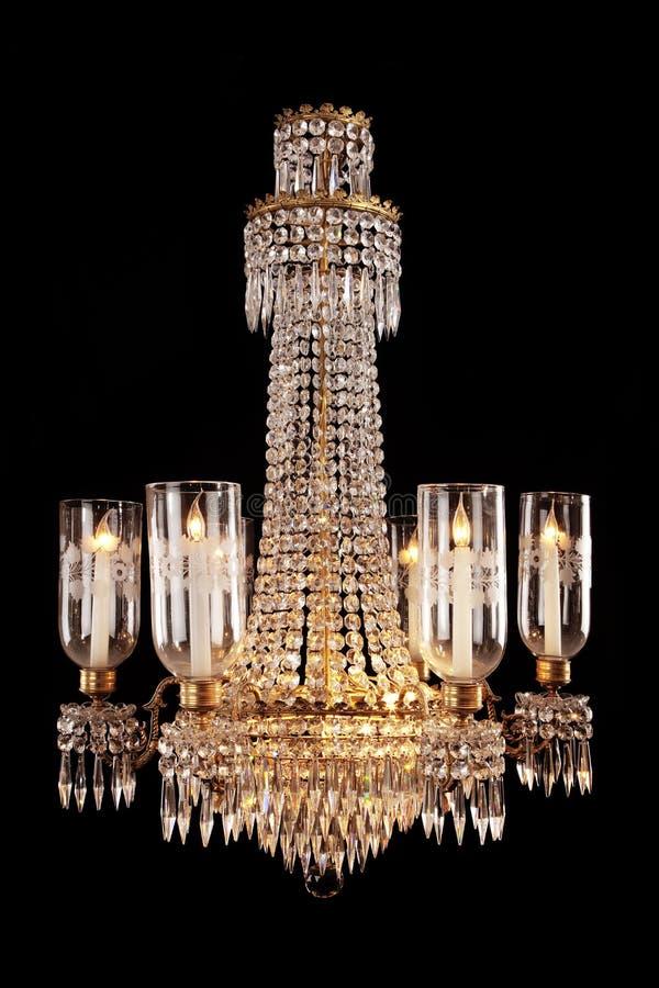 De hangende Kroonluchter van het kristalglas royalty-vrije stock afbeelding