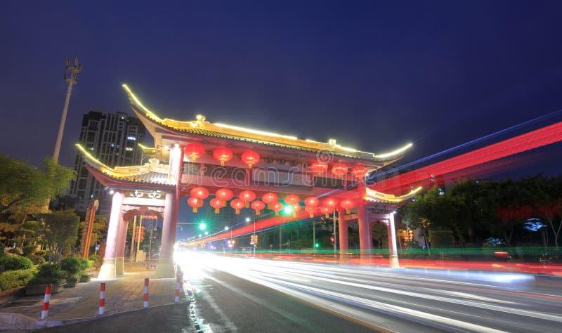 De hangende lantaarns van de Xinxingjieoverwelfde galerij, rgb adobe royalty-vrije stock foto