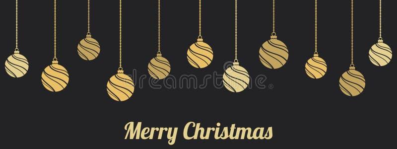 De hangende ornamenten van Kerstmis De decoratie van Kerstmisballen stock illustratie