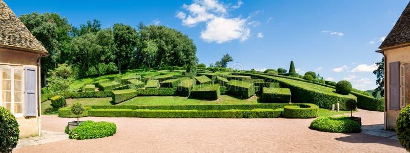 De Hangende Tuinen van Marqueyssac in Perigord in Frankrijk royalty-vrije stock afbeelding